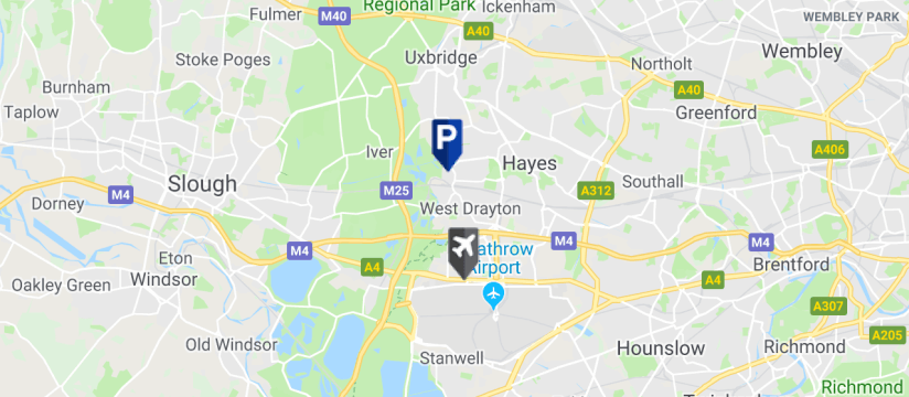 Drivefly Park & Ride T5, Heathrow Airport map