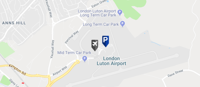 E-Park Meet & Greet Parking, Luton Airport map