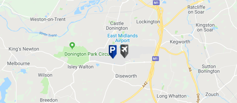 East Midlands Airport Long Stay Car Park 1, East Midlands Airport map