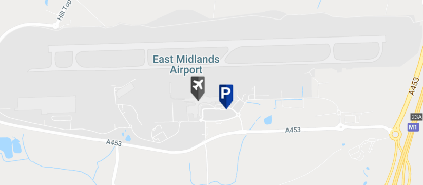East Midlands Airport Short Stay 1, East Midlands Airport map