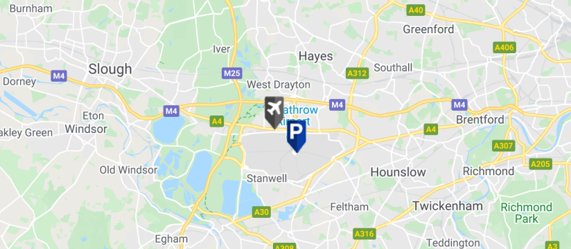 Edward Lloyd Meet & Greet Parking, Heathrow Airport map