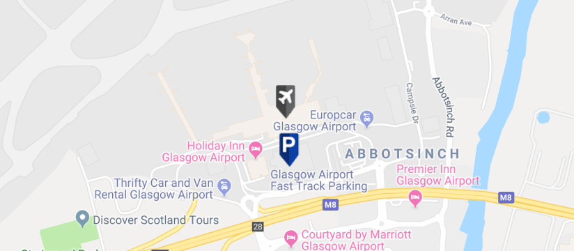 Glasgow Fast Track Parking, Glasgow International Airport map