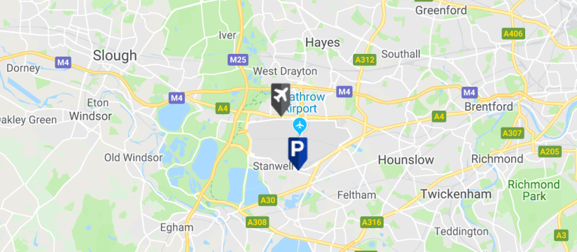 Good To Go Drop & Ride T3, Heathrow Airport map