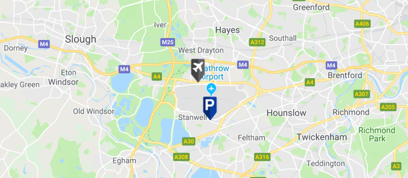 Good To Go Drop & Ride T4, Heathrow Airport map