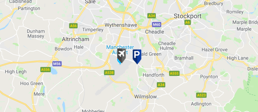 JetParks 3 , Manchester Airport map