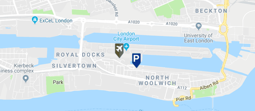 London City Airport Long Stay Parking , London City Airport map
