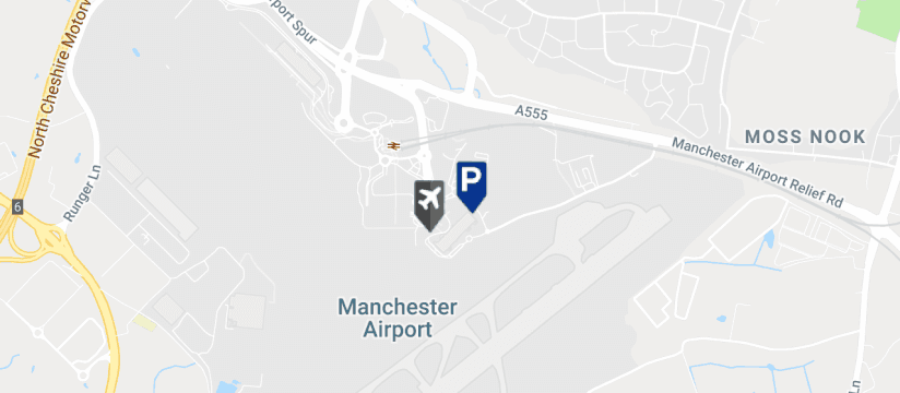 Manchester Airport Multi-Storey Terminal 3, Manchester Airport map