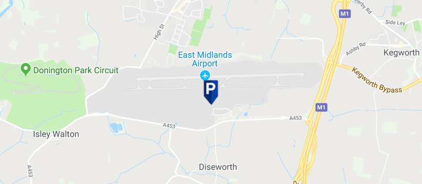 Meet & Greet, East Midlands Airport map