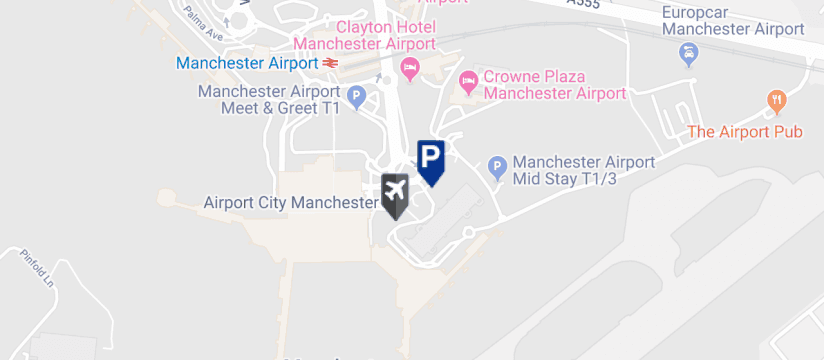 Meet & Greet Terminal 3, Manchester Airport map