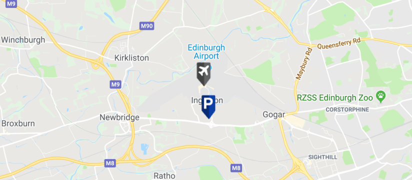 NCP Scotpark, Edinburgh Airport map