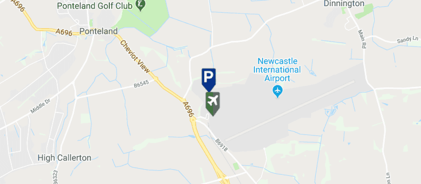 Newcastle Airport  Long Stay Parking , Newcastle Airport map