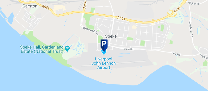 Park Smart, Liverpool John Lennon Airport map