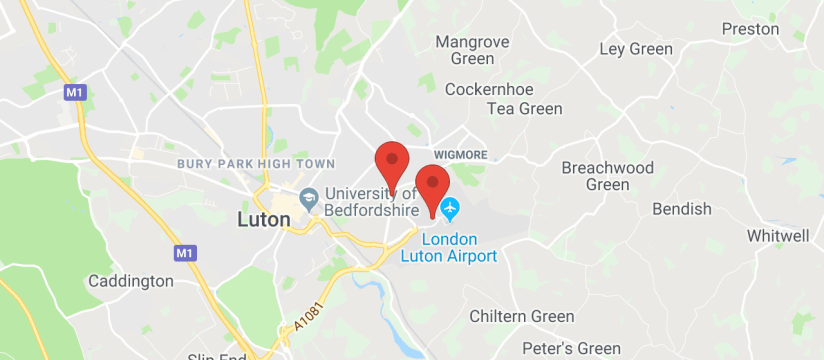 Premier Park and Ride, Luton Airport map