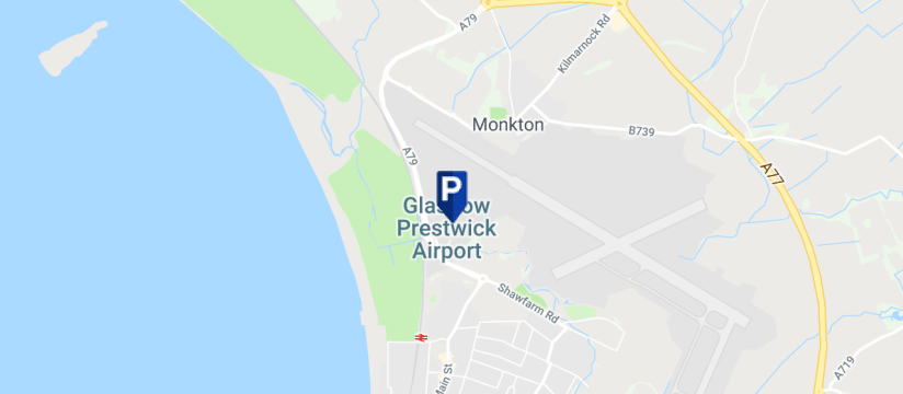 Prestwick Airport Car Park 3, Glasgow Prestwick Airport map