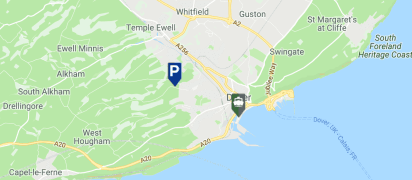 Relyon Ferry & Cruise Parking, Dover Port map