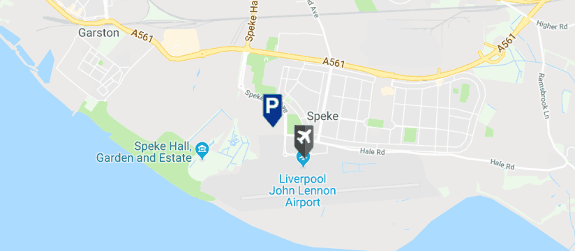 Skypark Meet & Greet, Liverpool John Lennon Airport map