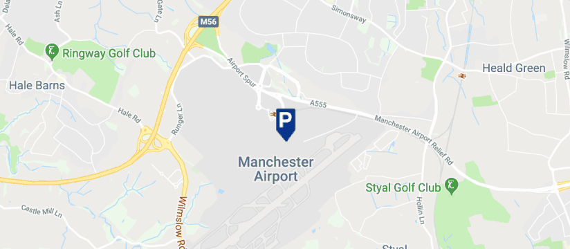 Skypark Meet & Greet, Manchester Airport map
